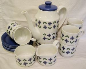 Midwinter 'Roselle' 15 Piece Coffee Set - Original Box - 1968